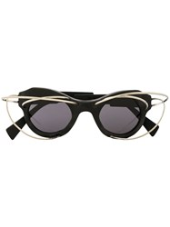 Kuboraum L1 Bm Wire Embellished Sunglasses 60