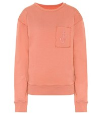 J.W.Anderson Embroidered Cotton Sweatshirt Pink