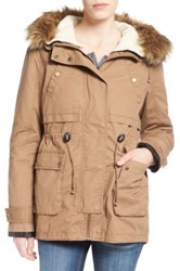 Thread And Supply 'Ranger' Parka With Faux Fur Trim Beige