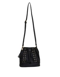 Miss Selfridge Corset Inspired Faux Leather Bucket Bag
