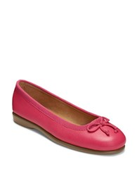 Aerosoles Fashionista Leather And Fabric Flats Dark Pink