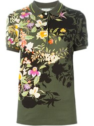 Etro Floral Print Polo Shirt Green