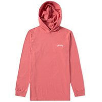 Stussy Long Sleeve Hooded Design Tee Pink