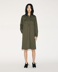 Fwk Engineered Garments Long Bush Dress Olive French Twill