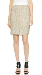 3.1 Phillip Lim Sequin Pencil Skirt White Gold