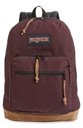 Jansport 'Right Pack' Backpack Burgundy Micro Grid