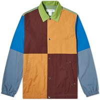 Comme Des Garcons Shirt Colour Block Coach Jacket Multi