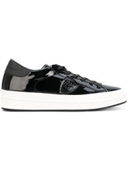 Philippe Model Platform Sneakers Women Cotton Leather Patent Leather Rubber 38 Black