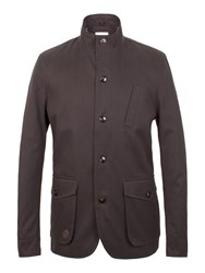 Racing Green Julio Twill Funnel Neck Jacket Charcoal