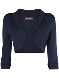 Phase Eight Shawl Collar Bolero Navy