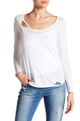 Chaser Cutout Long Sleeve Tee White