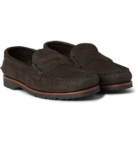 Quoddy Nubuck Penny Loafers