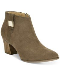 Alfani Women's Leoh Ankle Booties Only At Macy's Women's Shoes Moss