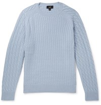 Dunhill Cable Knit Cashmere Sweater Blue