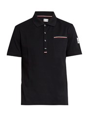 Moncler Gamme Bleu Patch Pocket Cotton Polo Shirt Navy Multi