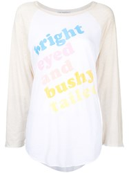 Wildfox Couture Printed T Shirt Women Cotton S White
