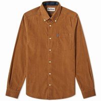 Barbour Cord Shirt Brown