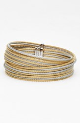 Women's Alor Coil Bangle Grey Yellow