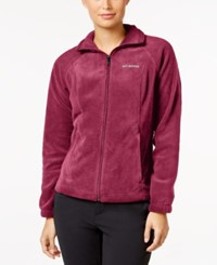 Columbia Petite Benton Springs Fleece Jacket Red Orchid