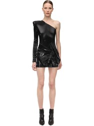 Faith Connexion Latex Mini Dress W Bow Black