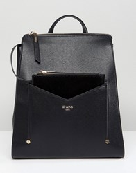 Dune Backpack In Black With Detachable Front Purse