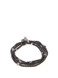 M Cohen Onyx And Silver Bracelet Black Multi
