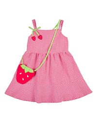 Florence Eiseman Sleeveless Gingham Seersucker Dress Pink White