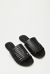 Forever 21 Faux Leather Huarache Sandals