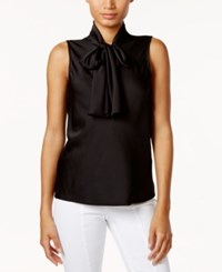 Nine West Tie Neck Blouse Black