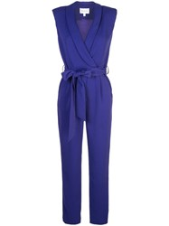 Milly Belted Jumpsuit Blue