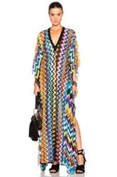 Missoni Mare Maxi Caftan In Purple Metallics Geometric Print Purple Metallics Geometric Print