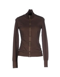 Met Topwear Sweatshirts Women Dark Brown