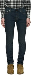 Saint Laurent Indigo Low Rise Skinny Jeans