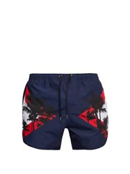 Neil Barrett Palm Modernist Swim Shorts Navy
