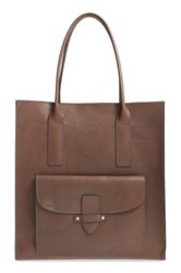 Frye Casey Leather Tote Gray