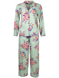 Cyberjammies Waterlily Print Pyjama Set Aqua