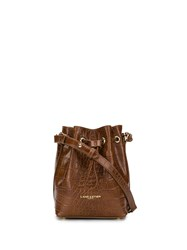 Lancaster Embossed Logo Bucket Bag 60
