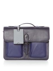 Ted Baker Quint Leather Satchel Navy