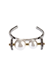 Lanvin Faux Pearl And Crystal Cuff