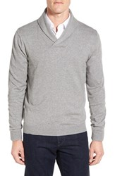 Nordstrom Men's Big And Tall Shawl Collar Sweater Grey Heather