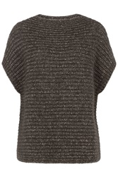 Closed Pullover With Cotton And Alpaca Brown