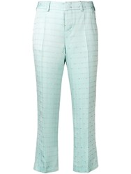 Zadig And Voltaire Posh Jacquard Cropped Trousers Blue