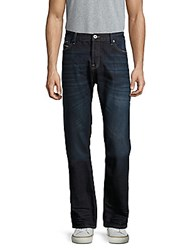 Cult Of Individuality Mccoy Loose Fit Whiskered Jeans Dark Storm