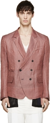 Haider Ackermann Coral And Grey Chevron Blazer