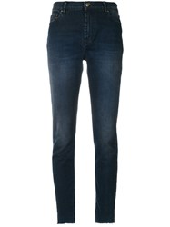 Mr And Mrs Italy Stonewashed Slim Fit Jeans Cotton Blue