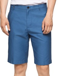 Calvin Klein Horizontal Ottoman Cotton Shorts Open Water Blue