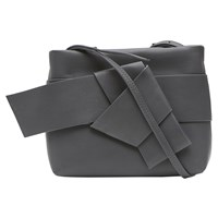 French Connection Sade Mini Bow Front Cross Body Bag Graphite Silver