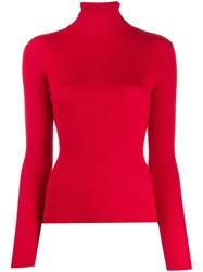 Lala Berlin Ribbed Turtle Neck Sweater Red