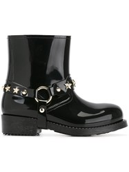 Red Valentino Ankle Rainboots Black