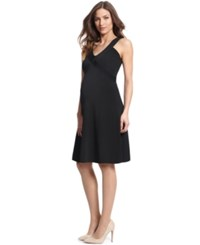 Seraphine Maternity V Neck Fit And Flare Dress